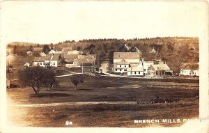 Palermo Branch Mills ME Aerial View F. W. Cunningham Photo in 1913 RPPC Postcard