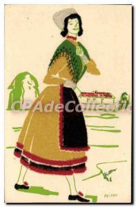 Postcard Old Poitou Regional Costumes