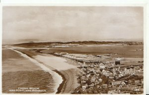 Dorset Postcard - Chesil Beach and Portland Harbour - Real Photograph Ref 19678A