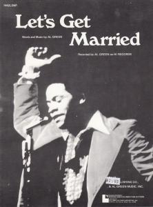 Lets Get Married Al Green 1970s Sheet Music