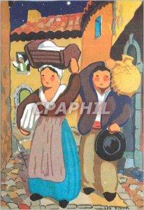 Postcard Modern Santon de Provence Farmer's Lady Jane Farmer with the Cradle