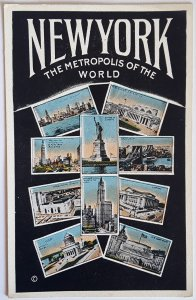 3 VINTAGE POSTCARDS FROM NEW YORK. PRINTER: IRVING UNDERHILL CO. UNUSED!!!