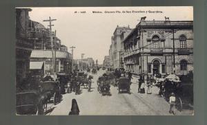 1920s Mexico City Real Picture RPPC Postcard Guardiola San Francisco Street View
