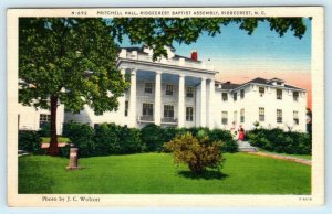 3 Postcards RIDGECREST BAPTIST ASSEMBLY, NC ~ Pritchell & Rhododendron Halls