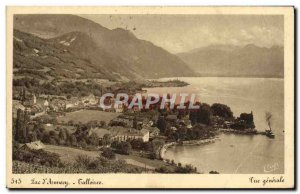 Old Postcard Lake Annecy Talloires General view
