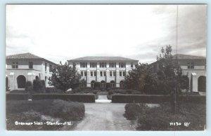 RPPC  Palo Alto, CA ~ STANFORD UNIVERSITY - BRANNER HALL c1940s Postcard