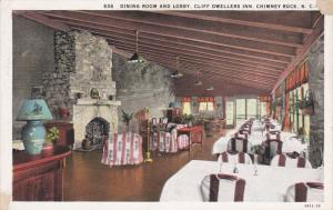 CHIMNEY ROCK, North Carolina, 1900-1910´s; Dining Room And Lobby, Cliff Dwel...