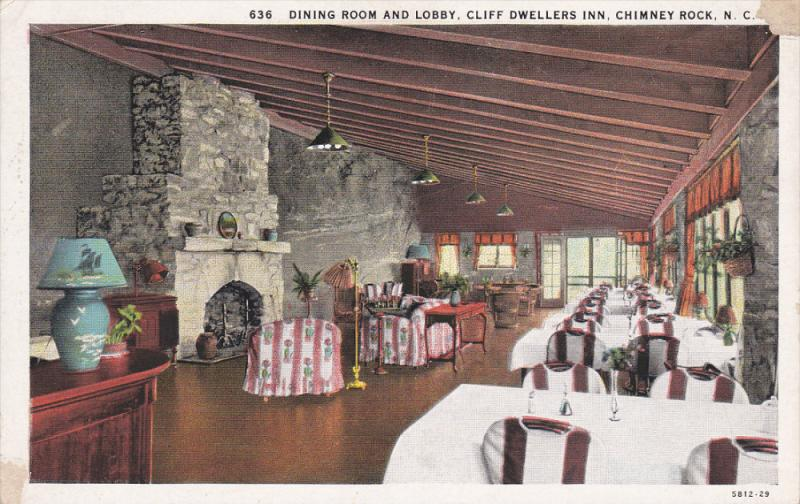 Chimney Rock North Carolina 1900 1910 S Dining Room And