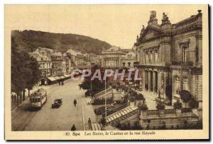 Old Postcard Spa Baths and Casino Royale Street Tram