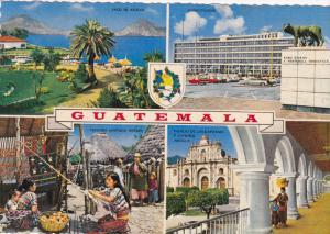 4-view postcard , Guatemala , 50-70s