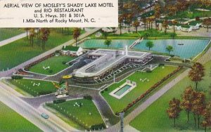 North Carolina Rocky Mount Aerial View Of Mosleys Shady Lake Motel And Rio Re...