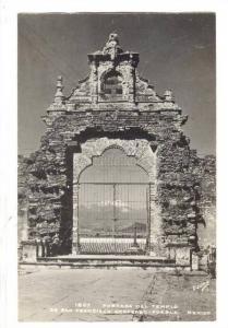 RP; Portada del Templo de San Francisco Acatepec, Puebla, Mexico, 20-40s
