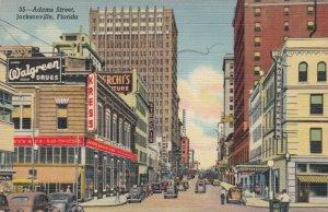 JACKSONVILLE , Florida, 1930-40s ; Adams Street, Walgreen Drugs, Store Fronts