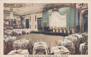 Illinois Chicago The Empire Room At Palmer House 1940 Curteich