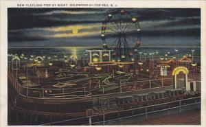 New Jersey Wildwood-By-The-Sea New Playland Pier By Night