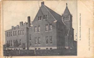 Indiana In Postcard 1906 ALEXANDRIA St Marys Church Building