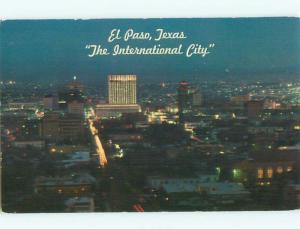 Pre-1980 AERIAL VIEW OF TOWN El Paso Texas TX n3353