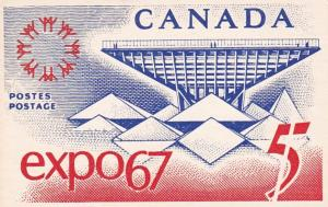 Canada Expo 67 Commemorative Stamp Showing Canadian Pavilion