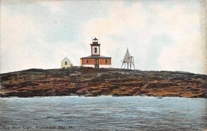 Frenchman Bay Maine~Egg Rock Light~Lighthouse~1908 Postcard