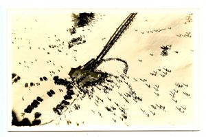 NH - North Conway. Mt Cranmore Skimobile Aerial View, 1940.  *RPPC  RARE