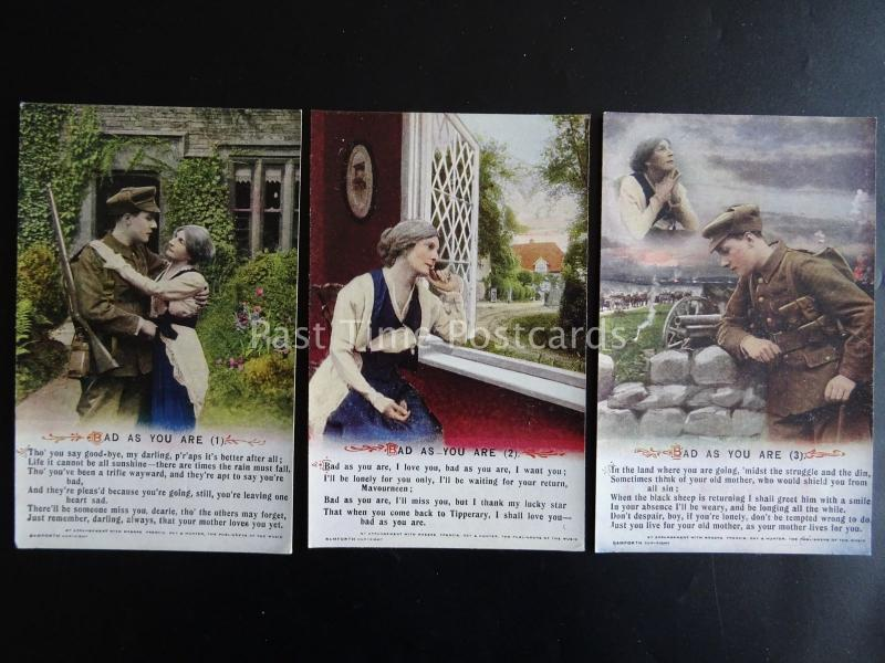 BAD AS YOU ARE - Bamforth Song Cards set of 3 No.5026