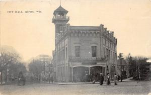 E49/ Ripon Wisconsin Wi Postcard c1910 City Hall Building