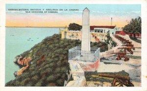 HAVANA, Cuba  LA CABANA FORTRESS  Old Cannons & Obelisk  c1920's Postcard