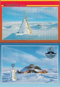 Arctic Circle Norway Polarsirkelen Senteret 2x Postcard s