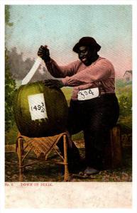 20308  300lb Negro cutting 149 lb watermelon