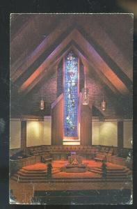 SEDALIA MISSOURI FIRST BAPTIST CHURCH INTERIOR CHAPEL MO. VINTAGE POSTCARD