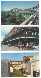 3 PC Lot, Town Views of New Orleans, Louisiana, 40-60s