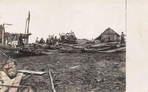 G24/ West Union Iowa RPPC Postcard Chandler Farm Storm Disaster 2