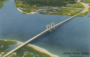 Sidney Lanier Bridge - Brunswick GA, Georgia 35 cent Toll - Linen