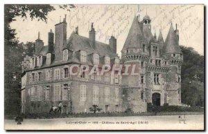 Old Postcard Chateau de Saint-Agil
