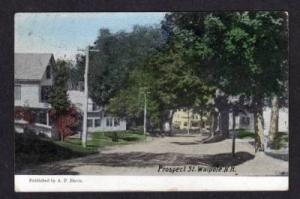 NH Prospect St  WALPOLE NEW HAMPSHIRE POSTCARD 1908