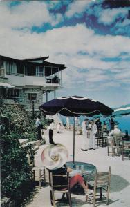 PORT AU PRINCE, Haiti, 1940-1960s ; La Perchoir Restaurant , Terrace