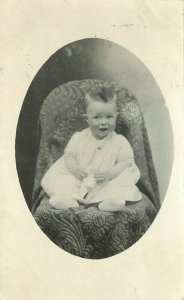 Boy in Chair Krupp Grant Washington 1914 RPPC Photo Postcard frame like 10671