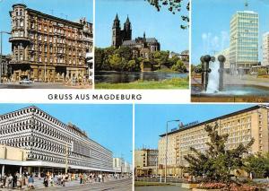 Gruss aus Magdeburg Hasselbachplatz Dom Centrum Warenhaus Hotel International