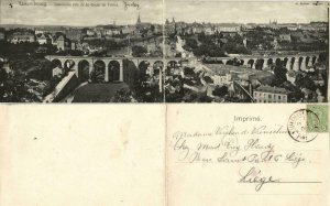 luxemburg, LUXEMBOURG, Double Panorama Postcard (1905)