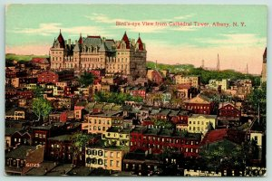 Albany New York~Birdseye View @ Cathedral Tower~State Capitol Building~c1910