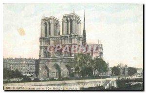 Old Postcard Notre Dame Paris