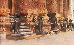 Thailand Thai Emerald Chapel Royal Buddha Vintage Postcard