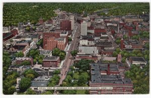 Jackson, Mich., Aerial View Of Michigan Ave., Looking East
