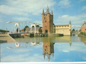 Holland, Netherlands, Castle & Bridge, 1987 used Postcard