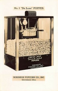 Cleveland OH French Fried Popcorn Machine Advertising Real Photo Postcard
