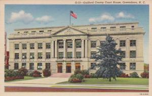 North Carolina Greensboro Guilford County Court House 1953 Curteich