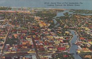 Florida Fort Lauderdale Aerial View Looking Towards The Atlantic Ocean Curteich