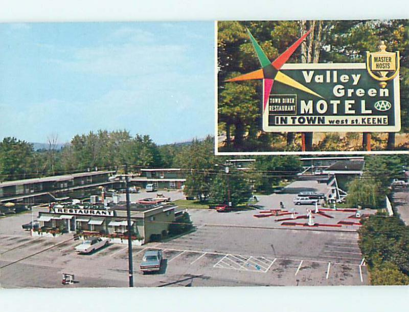 Pre 1980 Valley Green Motel Restaurant Keene New Hampshire