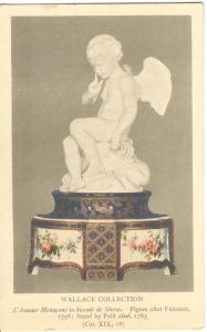 L'Amour Menacant in biscuit de Sevres. Figure after Falconet