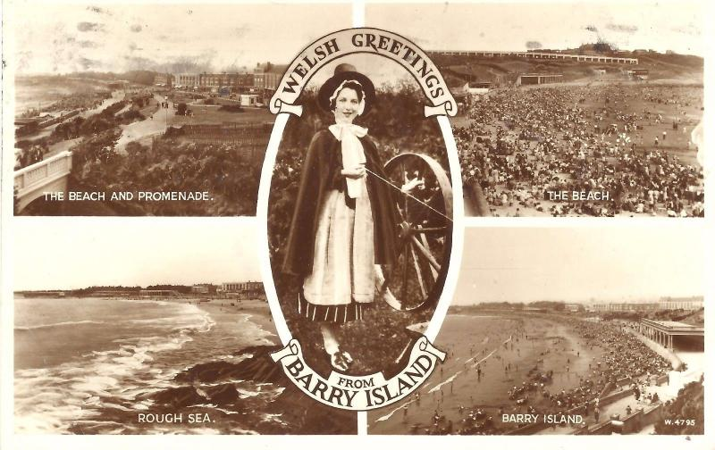 Uk vintage postcard welsh greetings from barry island c 1954 uk vintage postcard welsh greetings from barry island c 1954 m4hsunfo